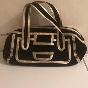 Pierre Hardy Black and Gold Handbag/Purse